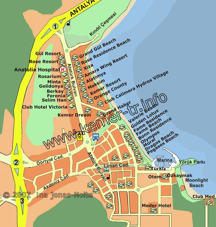 Карта Кемера Скачать - фото 3